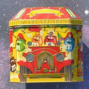 Vintage 1997 M&M's Fire Truck Christmas Tin